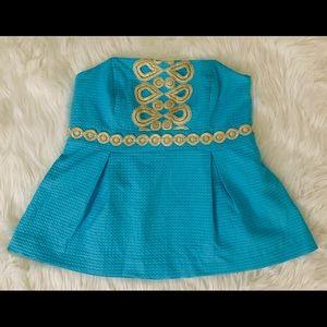 👗 Lily Pulitzer dressy strapless shirt